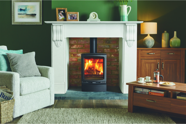 STOVAX Vouge Midi Wood Burning Stove with Plinth